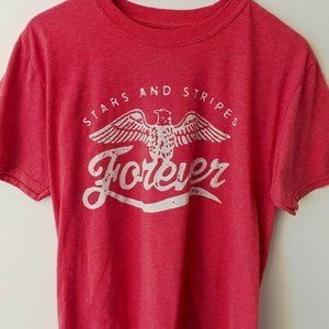 Buzz Stars & Stripes Forever Eagle Tee Shirt Red L